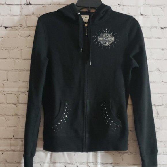 Harley Davidson Black Bling Hoodie Size Medium